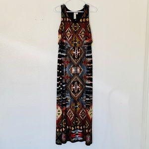 NEVER BEEN WORN Beautiful Aztec Maxi Dress